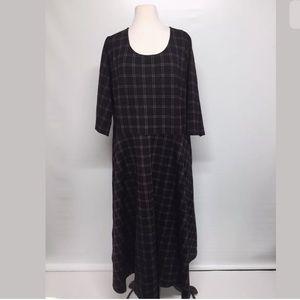 Society + houndstooth plaid stretch dress